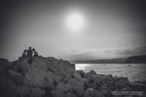 Famille en photos en déambulation à Nice